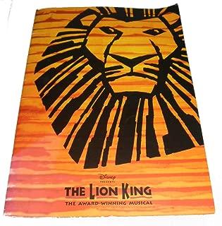 Disney Presents The Lion King The Award-Winning Musical Lyceum Theatre Program