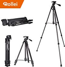 Rollei Compact Traveler Star S2 (DIGI 9300) - Compact Tripod, Height 150 cm, with Ball Head, Aluminum - Black