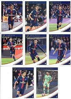 2019 Donruss Soccer Paris Saint-Germain Veteran Team Set of 8 Cards: Neymar Jr(#51), Edinson Cavani(#52), Kylian Mbappe(#53), Angel Di Maria(#54), Adrien Rabiot(#55), Thiago Silva(#56), Marquinhos(#57), Gianluigi Buffon(#58)