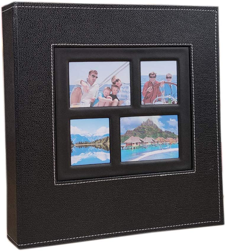 JHBW Photo Album Large-scale sale for 4x6 600 Super sale period limited Leather Photos Large Ca Cover Extra