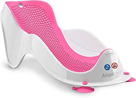 Angelcare Baby Bath/Shower Support Fit Infant/Newborn Bathing Clean 0m-6m Pink