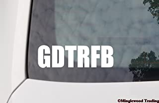 """Minglewood Trading White - GDTRFB 5"""" x 1.5"""" Vinyl Decal Sticker - The Grateful Dead Weir Jerry Garcia - 20 Color Options"""