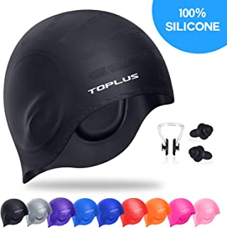 TOPLUS Swim Cap, Durable Silicone Swimming Cap Cover...