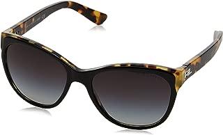 Women's RL8156 Cat Eye Sunglasses, Top Black/Spotty Havana/Gradient Grey, 57 mm