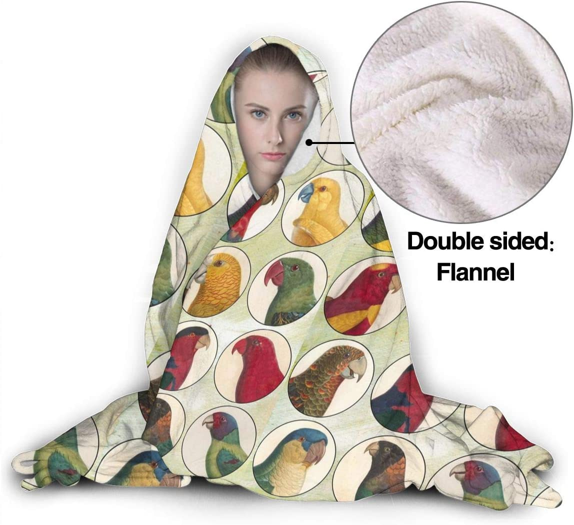 AIBILEEN The Laid-Back Sea Otter Family Hooded Blanket Wearable Hoodie Throw Microfiber Soft Knitted Plush Bedding 50x40 for Kids