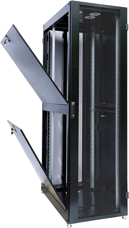 FerruNet42U Rack Mount Internet/Network Data Server Cabinet Enlosure 1000mm (39inch) Deep with Server Fan,ApplytoSmall Office, Home Office.