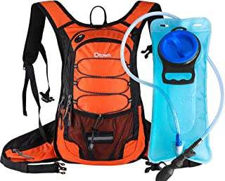Dtown Hydration Backpack with 2L BPA Free Water Bladder, Water Backpack for Hiking, Cycling, Camping, Biking or Running - ...