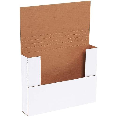 "Aviditi M1BK Corrugated Easy-Fold Mailer, 11-1/8"" Length x 8-5/8"" Width x 2"" Height, White (Bundle of 50)"