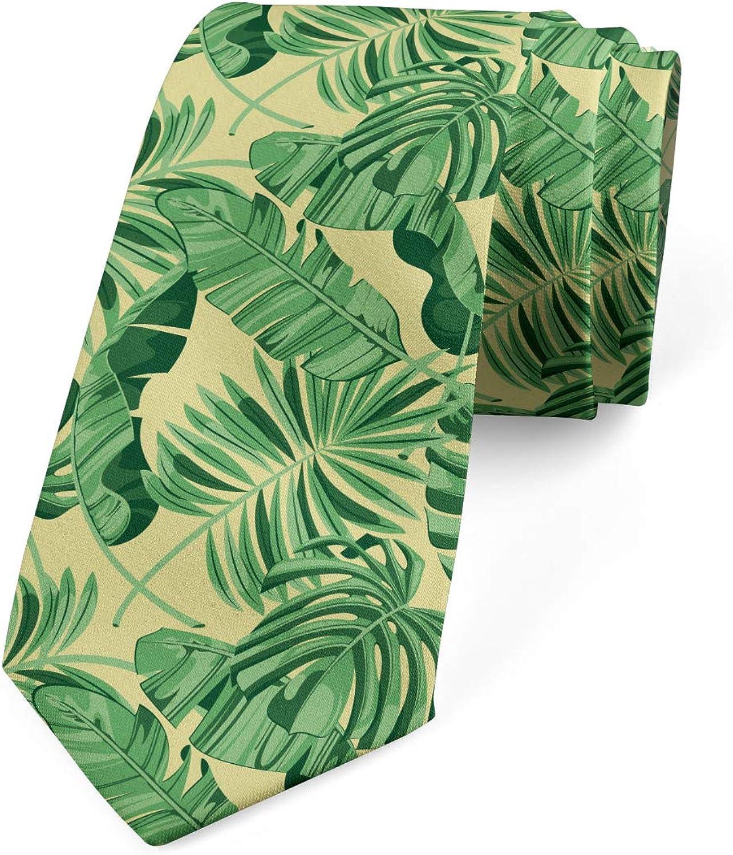 Ambesonne Men's Tie, Brazil Forest Foliage, Necktie, 3.7