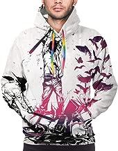 LEOUMAOYE P!NK Mens 3D All Print Hooded Sweatshirt