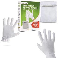 Gaxcoo Moisturizing Gloves OverNight Bedtime Cotton