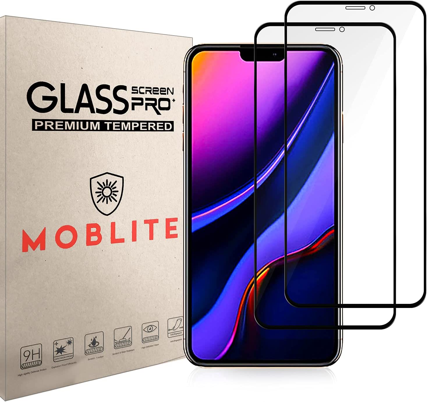 MOBLITE Compatible with iPhone 11 price Pro inch Manufacturer direct delivery 2ps 6.5 Max Tempe