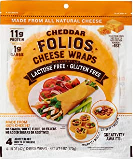 Folios All Natural 100% Cheddar Cheese Wraps
