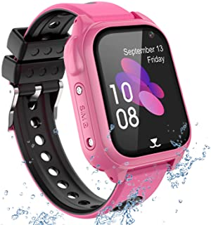 Reloj Inteligente Teléfono para niños Impermeable, GPS+LBS Rastreador Podómetro cámara SOS Pantalla táctil HD Conversación...