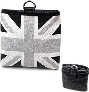 iJDMTOY (1 Black/Grey Union Jack UK Flag Style Air Vent Hanging Organize Bag for Smartphone, Drinks, Sunglasses, etc