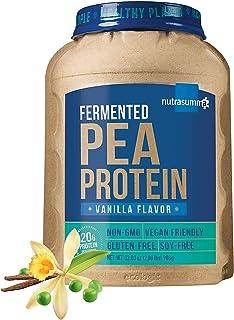 Nutrasumma 100% 2 LB Plant Based Fermented Pea Protein Powder Vanilla, Non-GMO, Gluten & Soy Free