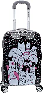 dog print luggage