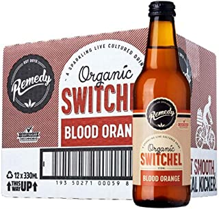 Remedy Organic Switchel Blood Orange, 330 ml (Pack of 12), 3960 ml