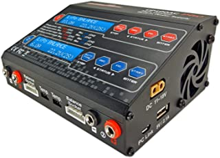 UP100AC Duo Dual 2 Port (CH1 10Amps, CH2 6Amps, 100Watts Total): LiPo, LiIon, LiFe, NiCd, NiMh, Pb AC/DC Balancing Battery Multi-Chemistry Multicharger w/ 120Watt Power Supply, USB Charge Port (5V 2.1A) for Cell Phones/Tablets/etc