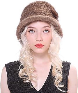 382295618d30d URSFUR Chapeau de Pêcheur en Vision Bonnet pour Femmes Élégance d'hiver  Décoration de Fleurs