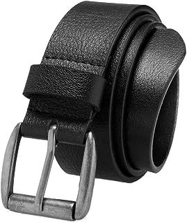 Men's Casual Jean Belt Soft Top Grain Leather Roller Buckle 38MM 1.5 inch Black Brown Tan