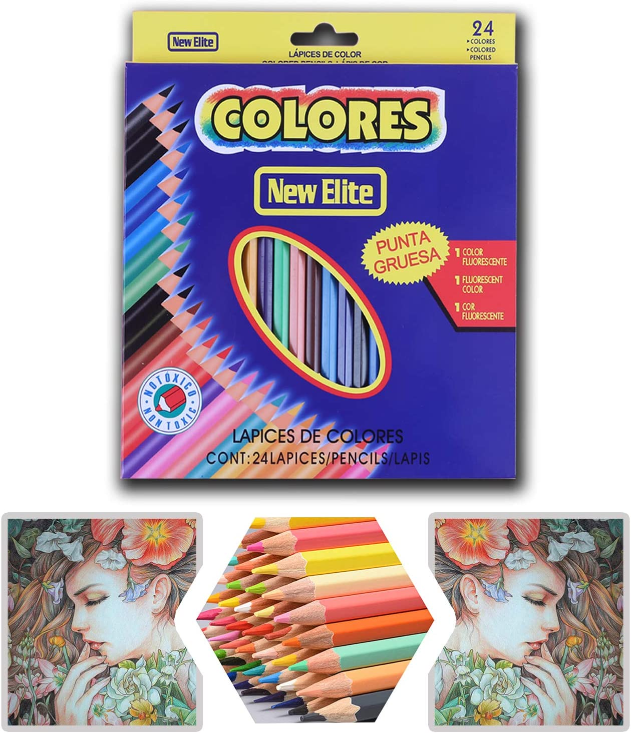 24 Coloring Set Pre-Sharpened Store Pencil Art Selling and selling Colour Color