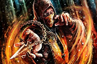 "PrimePoster - Mortal Kombat X XL Scorpion Poster Glossy Finish Made in USA - NVG067 (24"" x 36"" (61cm x 91.5cm))"