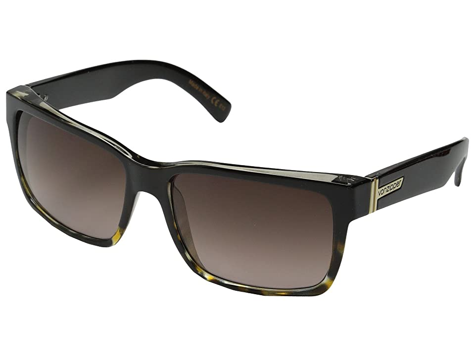 VonZipper Elmore (Black Tortoise/Brown Gradient) Sport Sunglasses