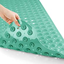 Yimobra Original Bath Tub Shower Mat Extra Long 16 x 40 Inches, Non-Slip with Drain Holes, Suction Cups, Machine Washable,...