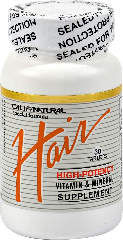 Direct stock discount California Natural Hair Vitamin Mineral Tab 30 OFFicial store