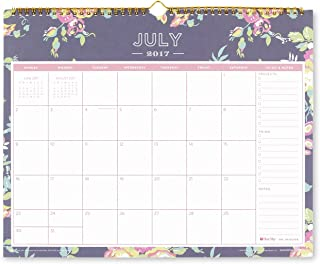 Day Designer for Blue Sky 2017-2018 Academic Year Wall Calendar, Twin-Wire Bound, 15
