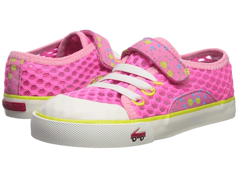 See Kai Run Kids Saylor (Toddler/Little Kid) (Hot Pink/Yellow) Girl
