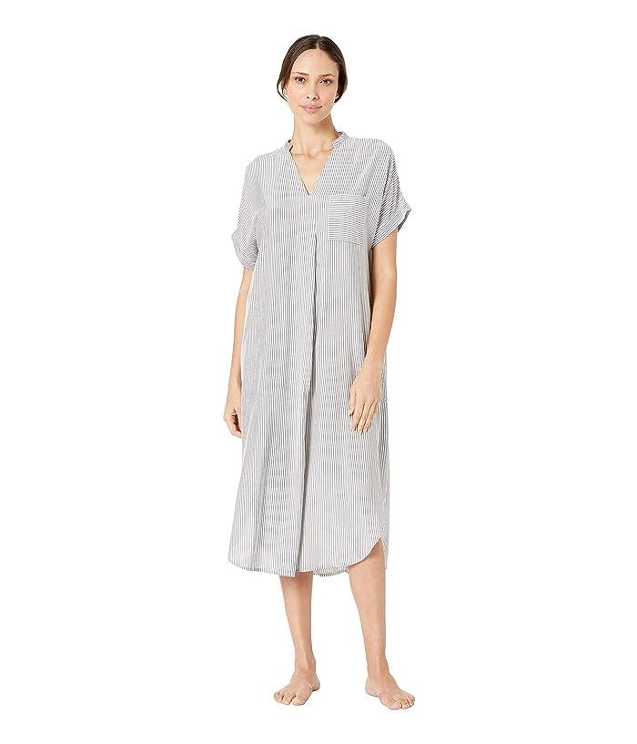 Donna Karan Maxi Shirt (Black Seersucker) Women