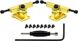 Teak Tuning Adjustable Width Fingerboard Trucks - Locking System - Allen Key Kingpin Style - Gold