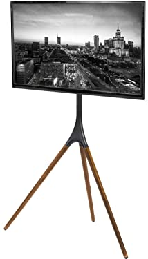 VIVO Artistic Easel 45 to 65 inch LED LCD Screen, Studio TV Display Stand, Adjustable TV Mount with Swivel and Tripod Base STAND-TV65A
