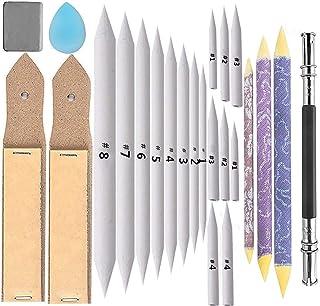 22 Pcs Blending Stumps and Tortillions Set with 2 Pcs Sandpaper Pencil Sharpener and 1 Pencil Extension Tool Art Drawing T...