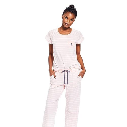 d93585da08 U.S. Polo Assn. Womens Top and Pajama Pants Lounge Sleepwear Set