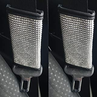 GZ Yuxin 2 Packs Bling Seat Belt Shoulder Pads, Seat Belt Cover Pad,Crystal Car Seatbelt Covers Diamond Car Decor Accessories for Women,Lady,Men(2X Seat Belt Cover)