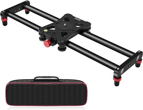 Zecti Camera Slider, Adjustable Carbon Fiber Camera Dolly Track Slider Video Stabilizer Rail for Camera DSLR Video Mo...