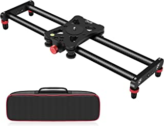 Zecti Camera Slider, Adjustable Carbon Fiber Camera Dolly Track Slider Video Stabilizer..