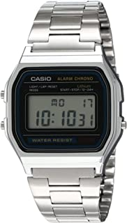 Men's A158WA-1DF Stainless Steel Digital Watch