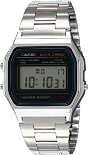 Casio Men's  A158WA-1DF Stainless Steel Digital Watch