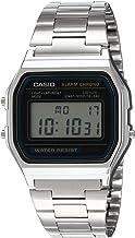 Reloj Casio Digital Retro Unisex 33mm, pulsera de Acero