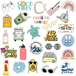 Cute VSCO Stickers for Water Bottles, 36 Pcs Hydro Flask Stickers Trendy Laptop Stickers Guitar Computer iPhone iPad Car S...