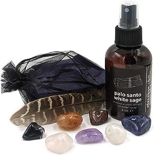 Hemlock Park Palo Santo White Sage Smudge Spray + Chakra Stones   Smokeless Smudging Alternative