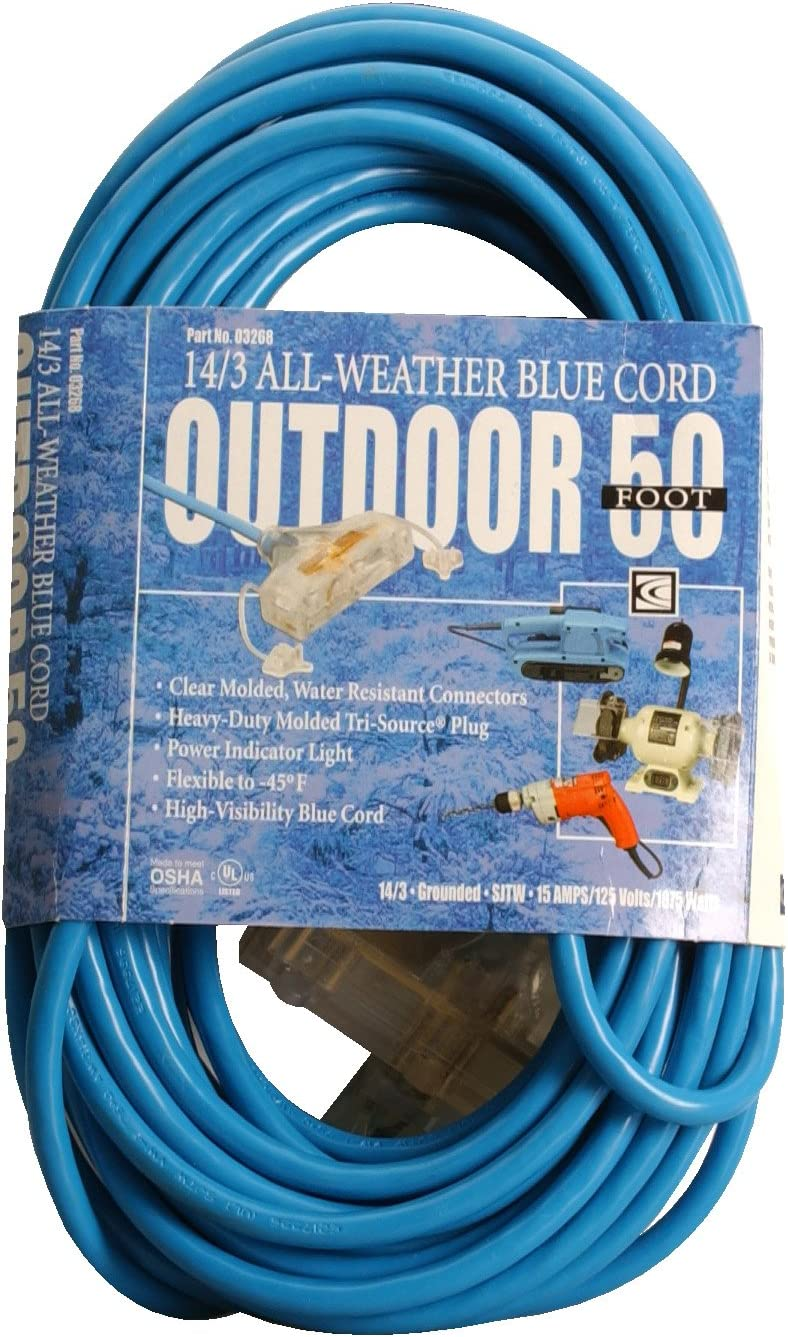 Save money Southwire 03268 50-Foot 14 3 SJTW Extension wi Limited price sale Cold Weather Cord