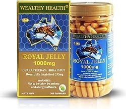 Wealthy Health Royal Jelly 1000mg Guaranteed 6% 10HDA INPUT 365 capsules