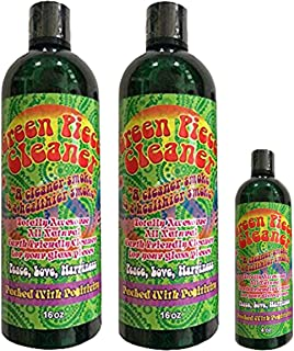 Green Piece 2 Count Cleaner 16 oz with a Free 4 Oz!- The All Natural Glass Cleaner, Metal and Ceramic Water Pipe/Bubbler - Earth Friendly Resin Remover