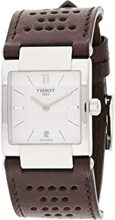 Tissot T090.310.16.111.00 Womens Quartz Watch, Analog Display and Leather Strap, Mother of Pearl