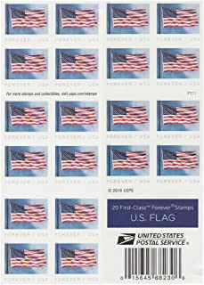 USPS US Flag 2019 Forever First Class Postage Stamps...